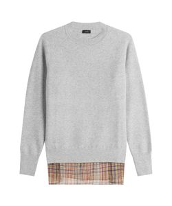 Joseph | Wool Pullover With Printed Silk Gr. Fr 36