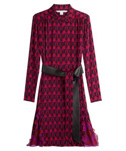 Diane Von Furstenberg | Printed Silk Shirt Dress Gr. Us 8