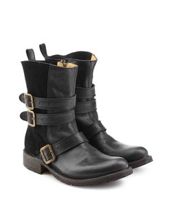 Fiorentini+Baker | Leather And Suede Boots Gr. It 39