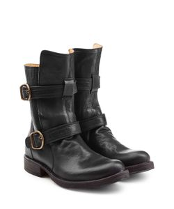 Fiorentini+Baker | Leather Biker Boots Gr. It 39