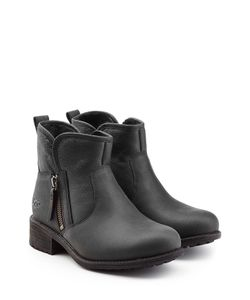 UGG Australia | Leather Ankle Boots With Shearling Gr. Us 7