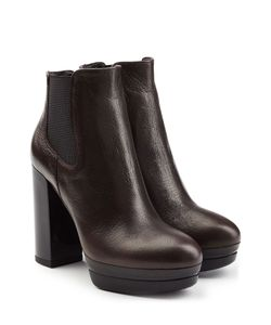 Hogan | Leather Platform Ankle Boots Gr. It 395