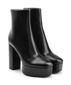 Alexander Wang | Leather Platform Ankle Boots Gr. It 36