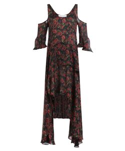 Iro | Printed Silk Dress With Cut-Out Shoulders Gr. Fr 34