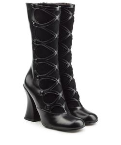 Marc Jacobs | Leather And Suede Knee Boots Gr. It 38