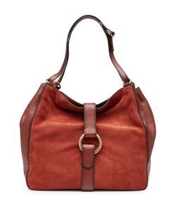 Michael Michael Kors | Quincy Large Suede And Leather Shoulder Bag Gr. One Size