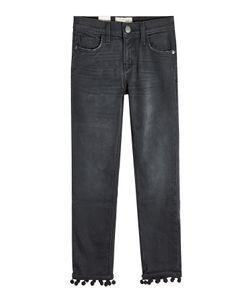 Current/Elliott | Cropped Straight Jeans With Pom-Pom Trim Gr. 30