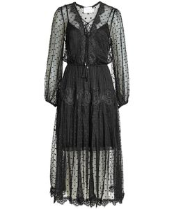 Zimmermann | Silk Dress With Lace And Swiss Dots Gr. 3