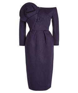 Delpozo | Midi Dress With Oversized Flower Gr. Fr 40
