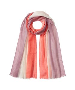Agnona | Colorblocked Scarf In Cashmere And Cotton Gr. One
