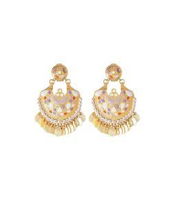GAS BIJOUX | Embellished 24k Plated Earrings Gr. One Size