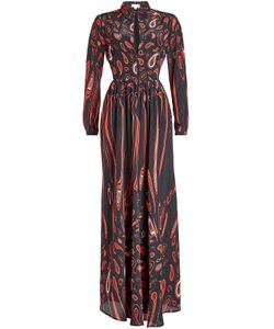 Lala Berlin | Printed Silk Maxi Dress Gr. M