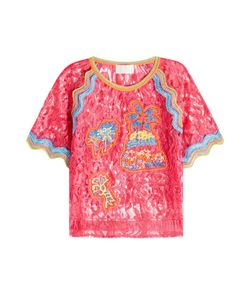 Peter Pilotto   Embroidered Lace Top Gr. Uk 8