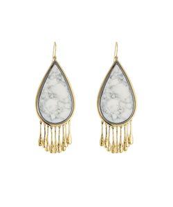 Aurelie Bidermann | Plated Earrings With Marble Gr. One Size