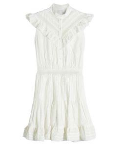 Zimmermann | Tulsi Cotton Mini Dress With Lace Gr. 2