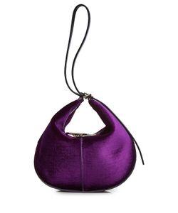 Nina Ricci | Velvet Hobo Bag With Leather Gr. One Size