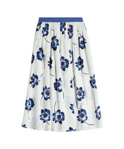 Agnona | Printed Cotton Midi Skirt Gr. S