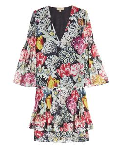 Burberry London | Printed Silk Chiffon Dress Gr. Uk 10