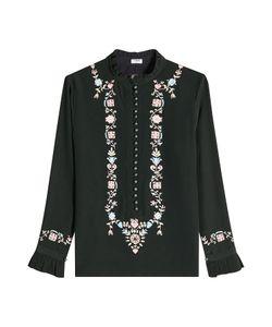 VILSHENKO | Embroide Silk Blouse Gr. Uk 12