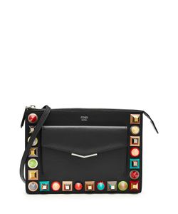 Fendi | Studded Leather Shoulder Bag Gr. One Size