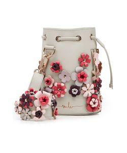 Marina Hoermanseder   Embellished Leather Drawstring Bag Gr. One Size