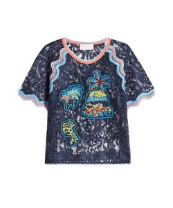 Peter Pilotto   Embroidered Lace Top Gr. Uk 10