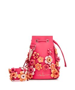Marina Hoermanseder   Embellished Leather Drawstring Bag Gr. One