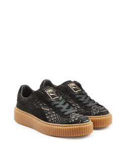 Puma | Textured Leather Creeper Sneakers Gr. Uk 7
