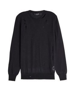 Alexander McQueen | Distressed Wool And Silk Pullover Gr. Xl