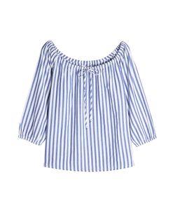 Velvet   Striped Cotton Blouse Gr. M