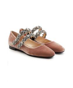 No21   Velvet Shoes With Embellished Straps Gr. Eu 40