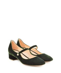 Rupert Sanderson | Velvet Mary-Jane Kitten Heels Gr. It 41