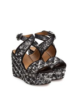 Sonia Rykiel | Embellished Wedge Sandals With Leather Gr. Eu 40