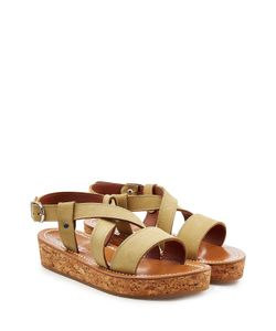 K. Jacques | Leather Sandals With Espadrille Wedge Gr. It 39