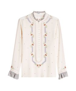 VILSHENKO | Silk Blouse With Embroidery Gr. Uk 12
