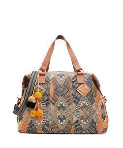 Star Mela | Embroidered Canvas Tote Gr. One Size