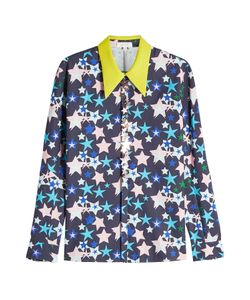 Delpozo | Printed Cotton Shirt With Embellishments Gr. Fr 36