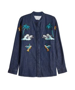 Victoria, Victoria Beckham | Embroidered Denim Shirt Gr. Uk 10