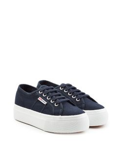 Superga | Actow Linea Up Cotton Sneakers With Platform Gr. Eu 40