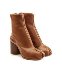 Maison Margiela   Leather Split Toe Ankle Boots Gr. It 40