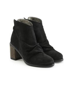 Fiorentini+Baker | Suede Ankle Boots With Embellished Heel Gr. It 38