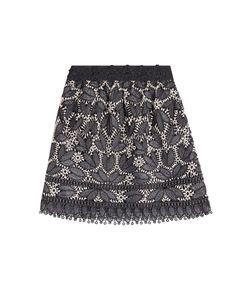 Anna Sui | Lace Appliqué Mini Skirt Gr. Us 6