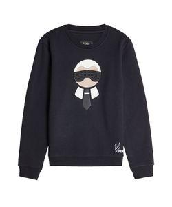 Fendi | Karlito Embellished Sweatshirt With Wool And Cotton Gr. Eu 50