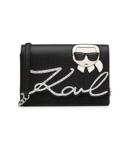 Karl Lagerfeld | Karl Leather Shoulder Bag With Glitter Gr. One Size
