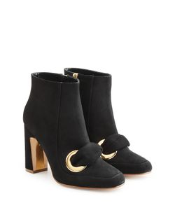 Rupert Sanderson | Suede Ankle Boot Heels Gr. It 37.5
