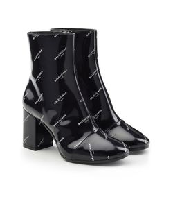 Balenciaga | Printed Patent Leather Ankle Boots Gr. It 37