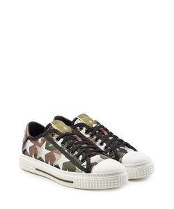 Valentino | Printed Leather And Canvas Sneakers Gr. Eu 44