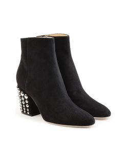 Sergio Rossi | Suede Ankle Boots With Stud Embellishment Gr. It 38