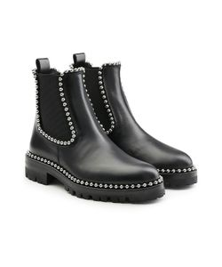 Alexander Wang | Embellished Leather Ankle Boots Gr. It 40