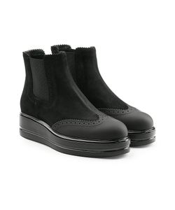 Hogan | Ankle Boots In Suede And Leather Gr. It 40
